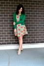 Carrot-orange-sm-wardrobe-dress-green-jcrew-cardigan