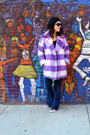 black Urban Outfitters hat - hot pink She  Sky coat