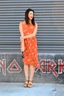Orange-anthropologie-dress-black-urban-outfitters-sunglasses