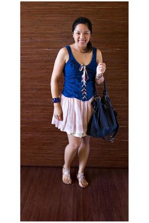 papaya blouse - Zara bag - Zara sandals - Zara skirt