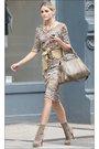 Dress-beige-shoes-beige-accessories