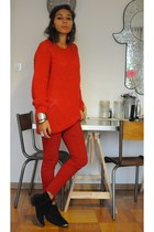 Zara sweater - Jonak boots - Zara pants