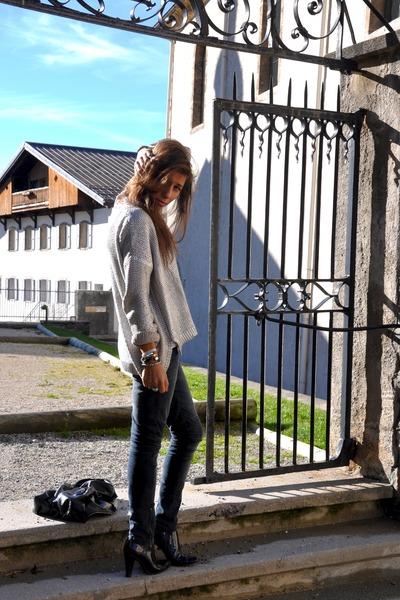 H&M suit - H&M Kids jeans - vintage boots - new look vest