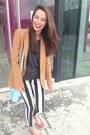 Topshop-jeans-bronze-zara-blazer-sky-blue-h-m-bag-red-h-m-flats
