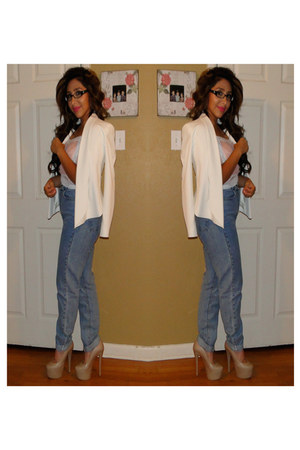 American Apparel jeans - Topshop jacket - nastygal shirt - SoleStruck pumps