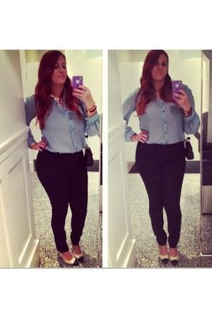 blouse - heels - pants