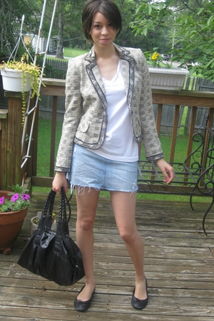Delias skirt - Old Navy shirt - thrifted blazer - BCBGgirls shoes