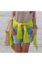 Chanel bag - Aritzia jacket - Aritzia shorts