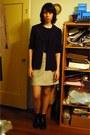 Pier-antonio-gaspari-jacket-suede-les-copains-skirt