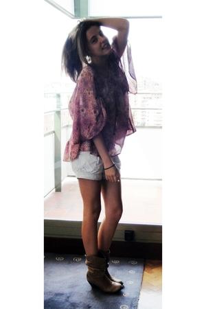 Zara blouse - Bershka jeans - el corte ingles boots