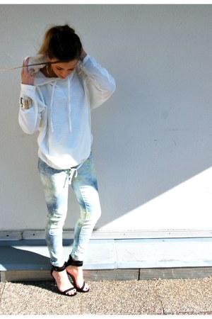 Zara hoodie - Zara heels