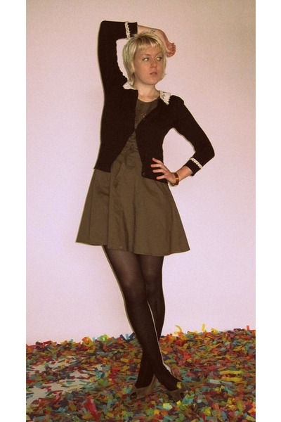 Olive Green Ark And Co Dresses Black Look From London Tights Olive
