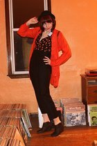 Ichi cardigan - modcloth pants - 8020 shoes - queen of hearts top - modcloth hat
