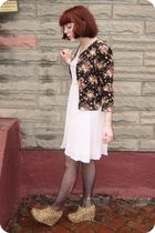 wholesaled jacket - H&M dress - Jeffrey Campbell boots - UO tights