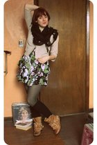 UO dress - Jeffrey Campbell boots - asos socks - modcloth tights - Tulle cardiga