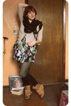 UO dress - Jeffrey Campbell boots - asos socks - modcloth tights - Tulle cardiga