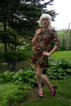 Tulle dress - thrifted vintage necklace - Nina heels