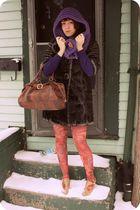 BB Dakota coat - Industry cardigan - Look From London tights - Industry shoes -