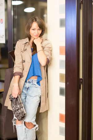 camel Zara coat - light blue Zara jeans - dark brown zippers Aldo bag