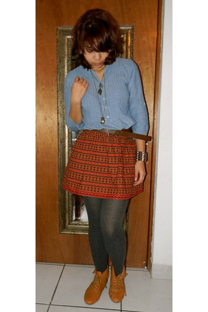 ruby red delias skirt - blue Aeropostale top