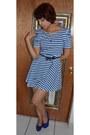 Blue-papaya-dress-blue-payless-heels