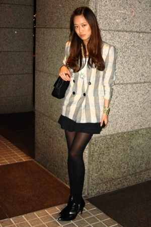 blazer - forever 21 skirt - H&amp;M tights - shoes