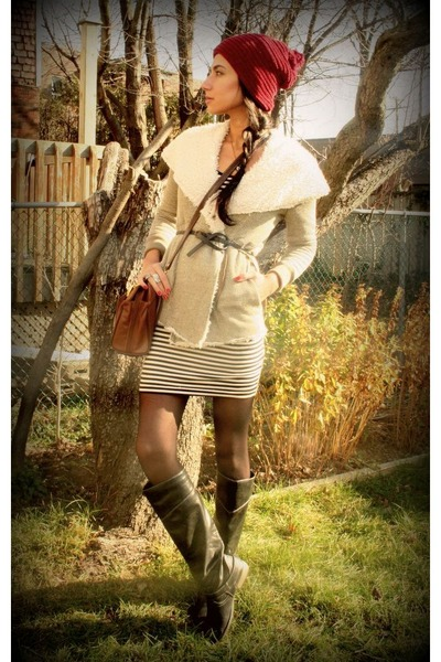 modcloth jacket - Aldo boots - H&M dress