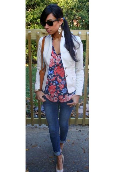 Zara blouse - J Brand jeans - H&M blazer
