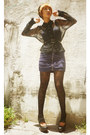 Deep-purple-h-m-dress-black-lace-gift-tights-black-moms-scarf-black-studde