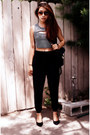 Black-crop-top-forever-21-shirt-black-baggy-sweats-h-m-pants