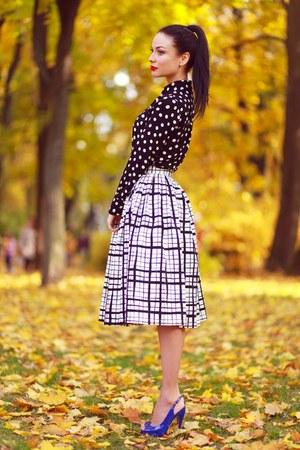 asos skirt - asos blouse - Gucci heels
