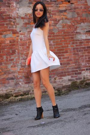 drop waist Tobi dress - Joie boots - aviator ray-ban sunglasses