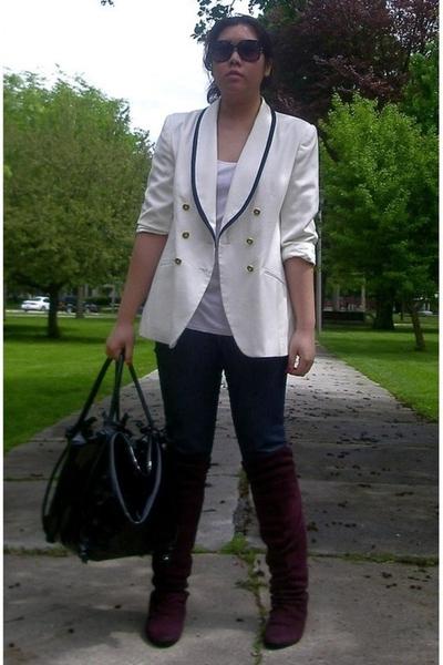 thrifted jacket - erotokritos purse - levis capital e jeans - Primark shoes