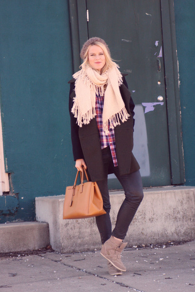 Prada bag - Mango coat - Zara jeans - Charlotte Russe wedges