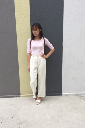 pants - pink H&M top