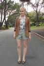 Bronze-velour-thrift-blazer-lime-green-thrift-shorts-dark-green-via-thrift-s