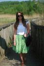 Black-satchel-matalan-bag-white-lace-detail-primark-top-chartreuse-midi-vint