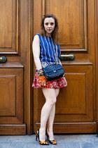 carrot orange leather shoes Louis Vuitton heels - black leather bag Chanel bag