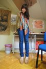 Navy-bershka-jeans-bronze-pull-bear-scarf-periwinkle-next-top-burnt-orang