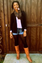 Steve Madden boots - Forever21 blazer - The Limited scarf