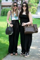 black maxi dress Forever 21 dress - dark brown lia Alexander Wang bag