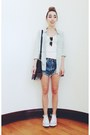 Light-blue-chambray-jcrew-shirt-dark-brown-lia-alexander-wang-bag