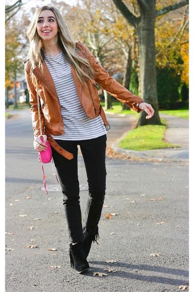 tawny motorcycle Zara jacket - black louie sam edelman shoes