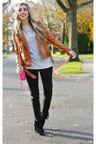 tawny motorcycle Zara jacket - black louie sam edelman shoes