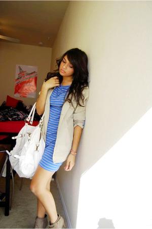 coat - dress - purse - shoes - earrings