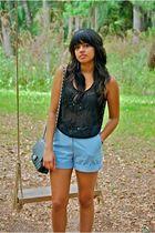 shirt - shorts - shoes - purse - accessories