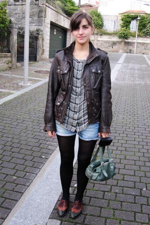 Topshop jacket - Mango shirt - Zara shorts - ramdom purse - 9west sport shoes -