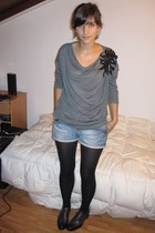 shoes - Zara sweater - Zara shorts - tights