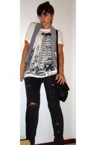 Zara t-shirt - Zara vest - Bershka jeans - Zara