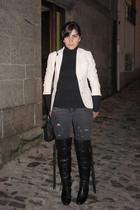 Schuh boots - Bershka jeans - Zara sweater - Zara accessories - Zara blazer